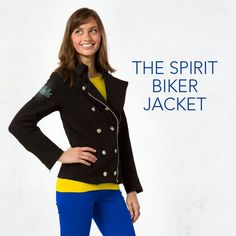 Bundle up at the next tailgate in the Spirit Biker Jacket! There's one for every Big Ten school!