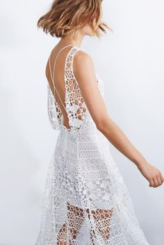 lasercut. white dresses. these are things we love.