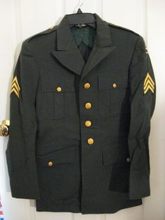 US Army Military Green Dress Service Uniform Late by MyFunkyJunk, $55.00