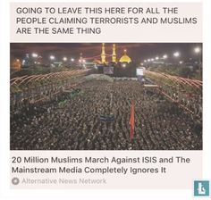 Yassssssss, Muslims are not isis, thank u fren for posting this ❤️