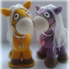 Амигуруми: Лошадка. Бесплатная схема для вязания игрушки. FREE amigurumi pattern