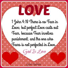 God's Love casts our Fear blog