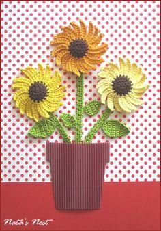 Natas Nest: Sunflowers Collage - Sonnenblumen-Collage