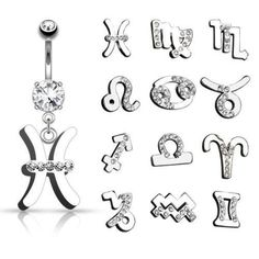 CUBIC ZIRCONIA BELLY RING