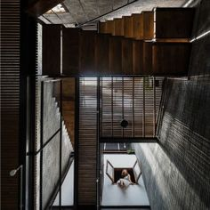 Zen+House+is+a+home+for+three+Buddhists+organised+around+a+light-filled+atrium