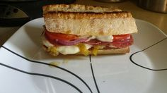 Made a delicious Italian sandwich for dinner tonight