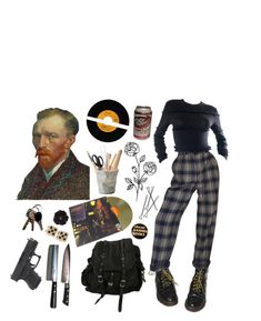 """oh"" by starpocalypse ❤ liked on Polyvore featuring Dr. Martens, Versace, AllSaints, Ziggy and ESSEY"