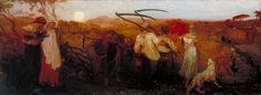 George Mason 'The Harvest Moon', exhibited 1872