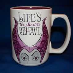 Hallmark Special Edition Life's Too Short to Behave Mug - Disney's Sleeping Beauty - Maleficent - DYG9718
