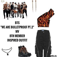 Band Outfits, Stage Outfits, Girl Outfits, Cute Outfits, K Pop, Bts Love, Bts Bulletproof, Bts Girl, Badass Outfit