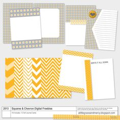 A Little Grace and Mercy: Project Life Digital Freebies | Squares & Chevron