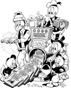 Gyro Gearloose Universal Translator - Don Rosa Family Coloring Pages, Disney Coloring Pages, Coloring Pages For Kids, Kids Coloring, Disney Magic, Disney Art, Don Rosa, Goof Troop, Uncle Scrooge