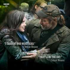 Falling Skies. I love their relationship. You don't see many close father/daughter relationships on tv.