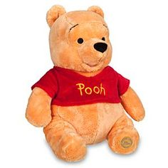 Winnie the Pooh Plush - Medium - 14'' | Disney Store This ''hunny'' of a bear is stuffed with just the right amount of fluff and sure to please, proving once again that it's so much friendlier with two. That's you and Winnie the Pooh!