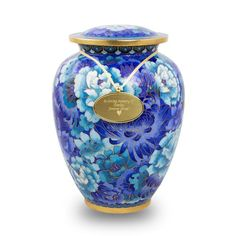 By mid-nineteenth century, cloisonné became a sought-after American import. Requiring skilled craftsmanship and a high degree of patience, cloisonné is an amazing value. Today, cloisonné cremation urns make an extraordinary final resting place for those who love to make a statement.