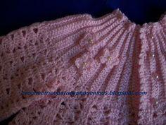 Boa Noite amigas !! Mais um trabalho de crochê para bebe   A receita posto logo abaixo. Para tecer esse casaquinho   usei o fio Keamor agul...