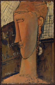 Amedeo Modigliani Lola de Valence 1915, oil. Met Museum. Gift of Adelaide Milton DeGroot, 1967. Accession number 84.