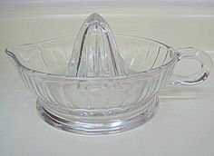 Mid Century Glass Juicer/Reamer by fatcatvintage on Etsy, $37.00