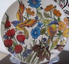 Painted Ceramic Plates, Ceramic Painting, Ceramic Pottery, Ceramic Art, Painted Boards, Painted Rocks, Tile Art, Mosaic Art, Turkish Art