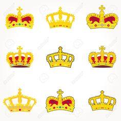9555932-set-of-crowns-vector-Stock-Photo-crown-gold-corona.jpg 1,300×1,300 pixels