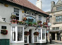 """Thirsk market place pub, The Black Bull.  Thirsk is the basis for Darrowby, of the James Herriot  novels (""""All Creatures Great and Small"""", etc.)."""