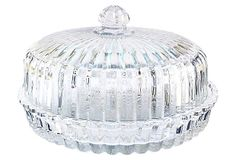 Crystal Pie Plate w/ Dome on OneKingsLane.com