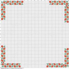 Magyar Néprajzi múzeum anyagából válogatva Cross Stitch Boarders, Cross Stitch Rose, Cross Stitch Alphabet, Cross Stitch Flowers, Cross Stitch Charts, Cross Stitch Designs, Cross Stitching, Cross Stitch Embroidery, Cross Stitch Patterns
