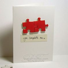 We love this simple card, which could be used for weddings, anniversaries, or little love notes!
