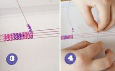 rather ingenious...making a bead bracelet with a comb