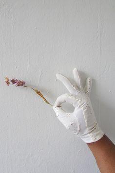 vintage gloves   1950s gloves   white gloves   vintage white eyelet gloves   formal white gloves   small   Sweet William Gloves by VivianVintage8 on Etsy