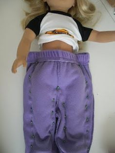 Baby Doll pants tutorial -make doll clothes out of old baby clothes