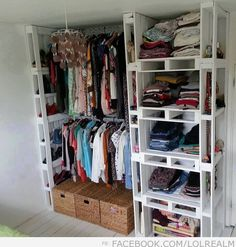 amazing DIY closet organization made from pallets