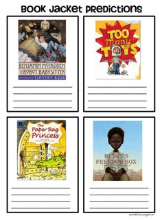 Predicting Books -- An idea from previous pinner... I always throw out the book covers because they get ripped...I could laminate them and make them a center or activity where the students have to predict what the story is about...