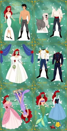 Little mermaid,  paperdolls: [60ae393ebe29a01302cdb5b821e96970.jpg (500×974)]