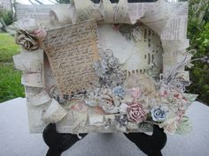 Shabby Mixed Media Altered Canvas