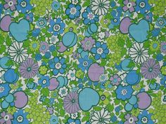 1960s MOD Fabric in bright floral print