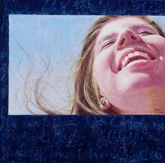 """Cool Breeze of the Rhythm"", 20x20"" pastel portrait of girl by Daggi Wallace  $950. www.daggistudio.com"
