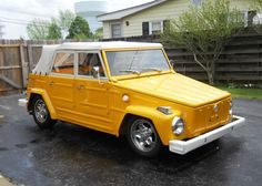 I drive a volkswagen, but the one I really want is the Thing, in yellow or orange.