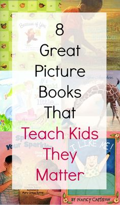 8 Great Picture Books That Teach Kids They Matter from the amazing Liv Lane! Reading Library, Kids Reading, Teaching Reading, Teaching Kids, Teaching Character, Character Education, Preschool Literacy, Kindergarten, Book Authors