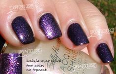 Sally Hansen Dahlia Nail Polish over Black