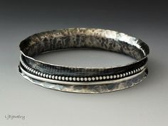 Silver Bangle Stacking Bangle Statement Bangle by LjBjewelry
