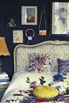 deep navy bedroom walls!