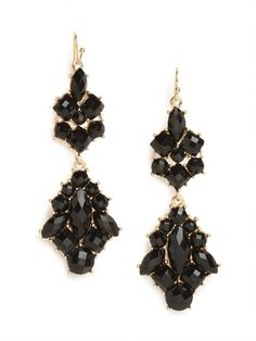 our onyx elizabeth earrings - I NEED those for my senior prom!