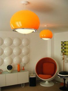 nice 70's Guzzini Style Pendant Lights $149.99 if they would ship to the US these wou...