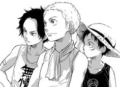 One-Piece. Ace, Sabo ad Luffy :) ASL pirates :D