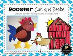 Free Rooster Cut and PasteThis is a Rooster Cut and Paste project.  It includes all the necessary templates for xeroxing. Just copy onto construction paper!Each download PDF includes:1. A photograph of the project2. Directions3. Patterns that can be copied directly onto colored construction paper and then cut out by students.4.