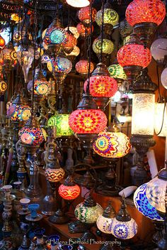 The Grand Bazaar, Istanbul, Turkey. This photo brings it all back. Turkish Lanterns, Turkish Lights, Turkish Lamps, Grand Bazaar Istanbul, Mood Light, Tiffany Lamps, Perfect World, World Of Color, Christmas Bulbs