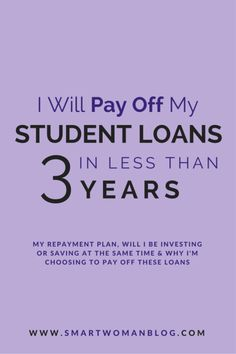 How this woman plans to pay off over $30k of student loans in less than 3 years. Very inspirational.