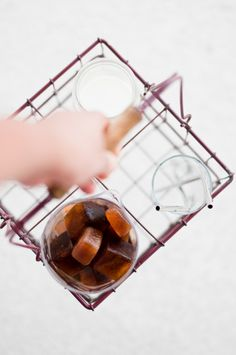 Iced Coffee Cubes | KiranTarun.com/Food