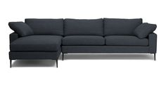 Nova Bard Gray Left Sectional Sofa - Sectionals - Article | Modern, Mid-Century and Scandinavian Furniture